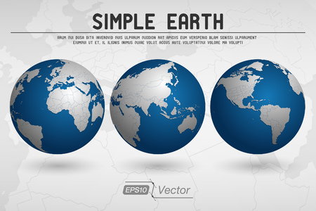 world globe map: Simple Globe