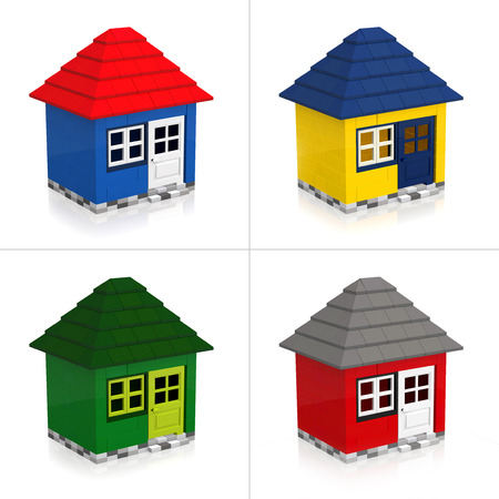 Lego House Stock Photo