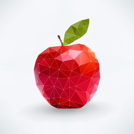 apple isolated: Abstract isolated apple fruit