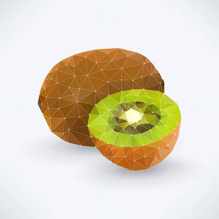 Abstract isolated kiwi fruit
