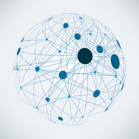Abstract wereldwijde netwerk | EPS10 vector design Stock Illustratie