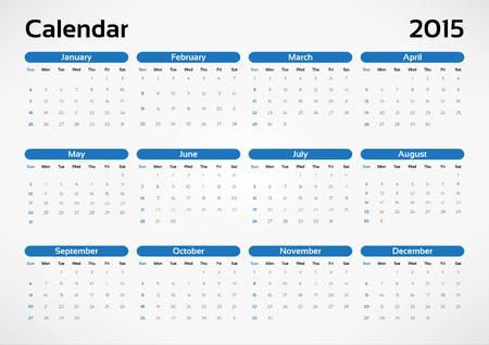 Vector calendar 2015 Vector