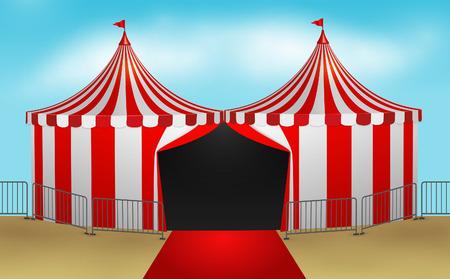 Circus tent illustration  Vettoriali