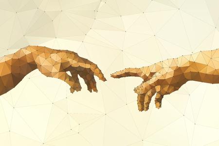 mano de dios: Mano Resumen ilustraci�n vectorial de Dios Vectores
