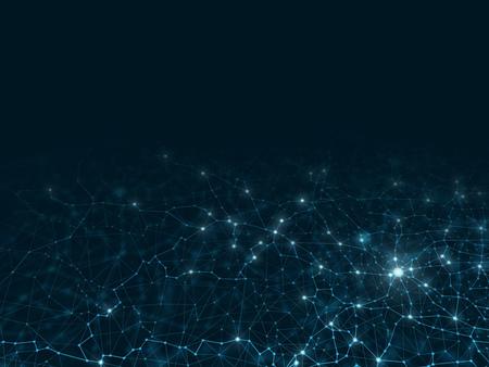 Abstracte netwerkachtergrond Futuristische vectorillustratie