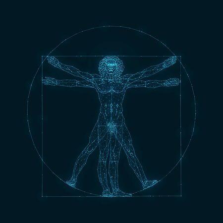 The Viturvian Man - Wire Concept Vettoriali