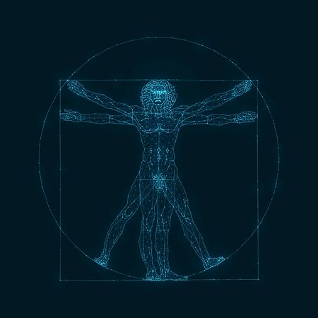 The Viturvian Man - Wire Concept Vectores