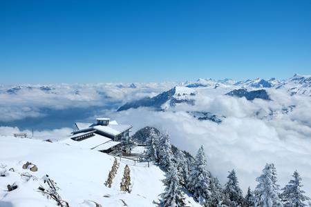 viewed: Viewed from Stanserhorn Switzerland.