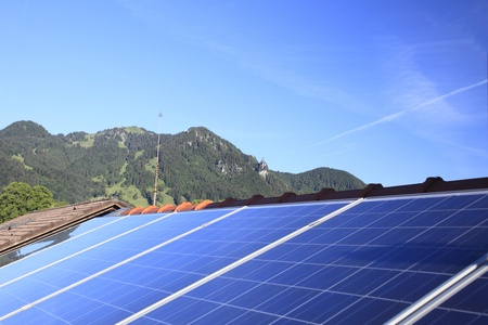 array of photovoltaic modules on a roof Stock Photo - 9678420