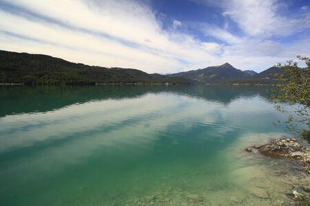 green lake walchensee in Bavaria south Germany Stock Photo - 9991200