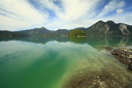 green lake walchensee in Bavaria south Germany Stock Photo - 10033127