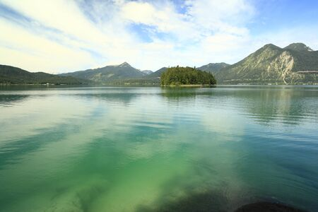 green lake walchensee in Bavaria south Germany Stock Photo - 10327432