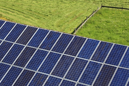 array of photovoltaic modules on a roof Stock Photo - 10327433
