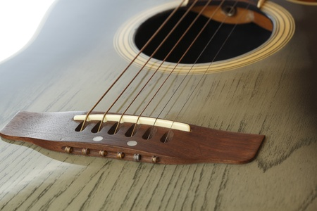 detail of western guitar with shallow depth of field photo