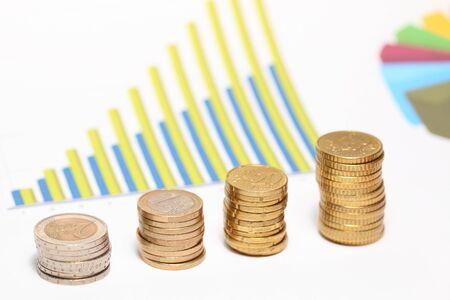 Diagram of money coins.Financial success concept Stock Photo - 12338409