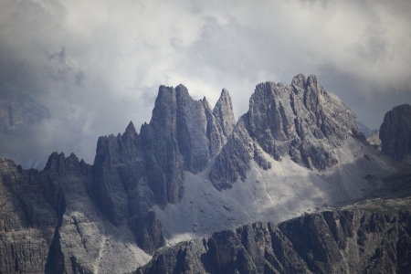 top of a dolomite mountain with bad weather Stock Photo - 14410233