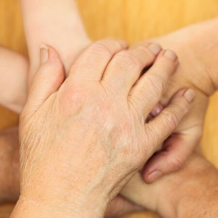 many different hands are forming a stack Stock Photo - 16827961