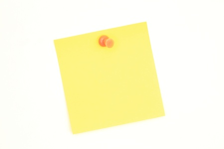 one yellow sticky note on a white board photo