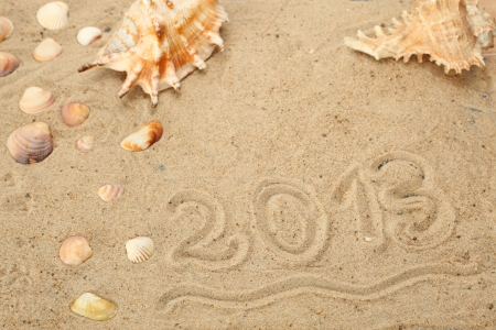 mussels in sand on beach, holiday symbol Stock Photo - 17879463