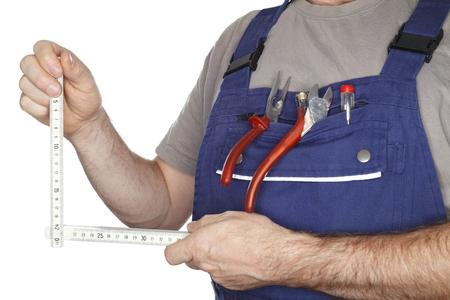 metering: metering tool in hands of work man