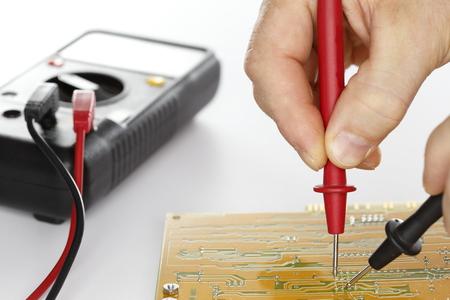 composant ?lectrique: mesure sur un composant �lectrique avec l'outil Banque d'images