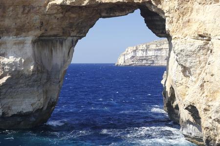 famous stone arch of Gozo island, Azure Window photo