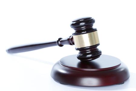 law gavel symbol isolated on white background