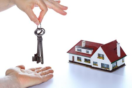 keyholder: to buy a house with symbolic key
