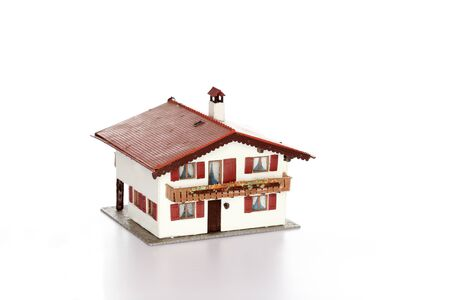 modell: isolated small house model on white background