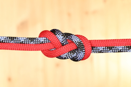 slipped: a double knot with two different ropes