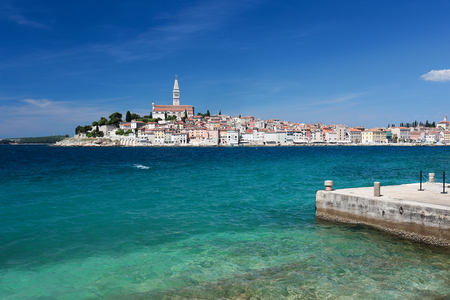 beautiful  harbour city in an european country Stock Photo