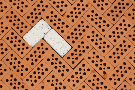 background pattern with different bricks on a wall
