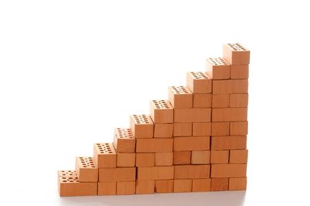 symbole de l & # 39 ; escalier avec des briques pour grandir Banque d'images
