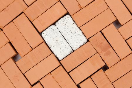 diagonal pattern with bricks on a base