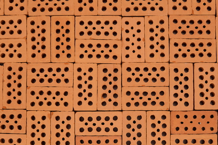flat pattern with bricks squared on ground Stock Photo