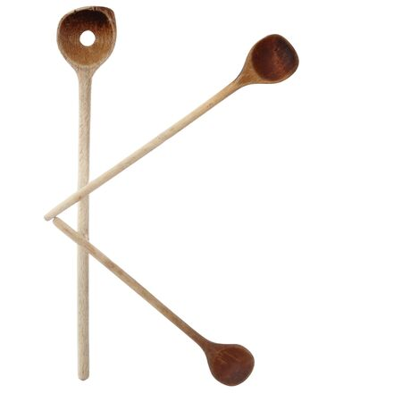turner: the letter k with wooden spoon Stock Photo