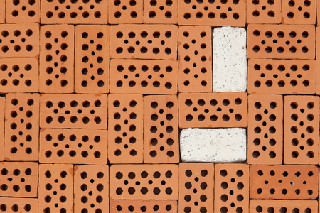 white and red bricks pattern on a ground
