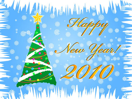 festooned: Happy New Year Christmas tree 2010