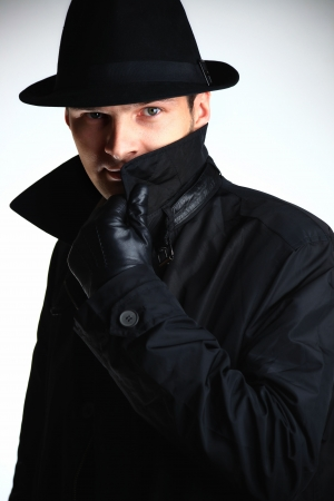 Gangster man in hat photo