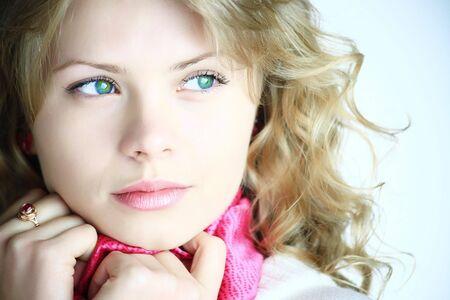 Young beautiful woman girl