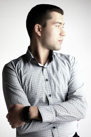 Young man looking Stock Photo - 6049870