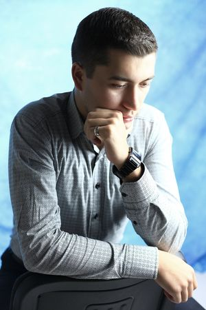 Young man looking Stock Photo - 6049766