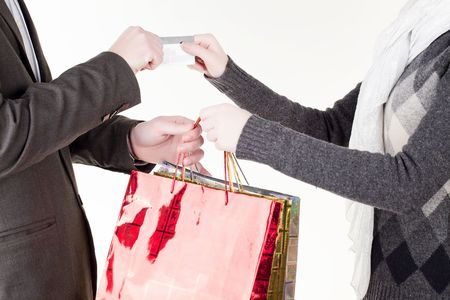 Man passing credit card photo