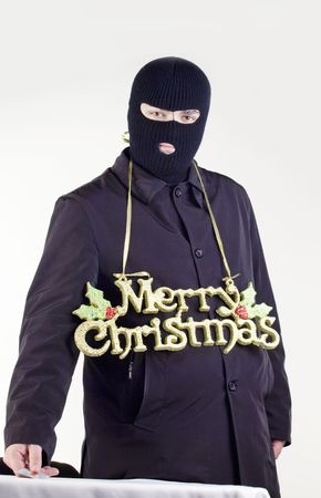 Merry Christmas from gangster Stock Photo - 6049860