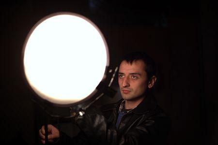 Man in studio photo