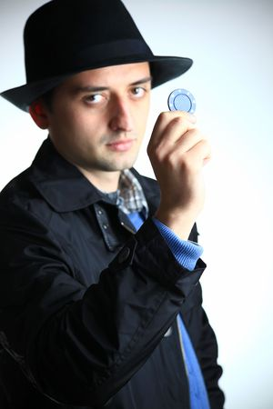 Young man in hat photo