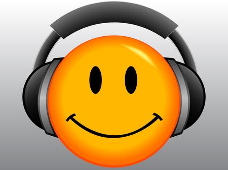 Emoticon met headset