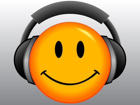 Emoticon with headset