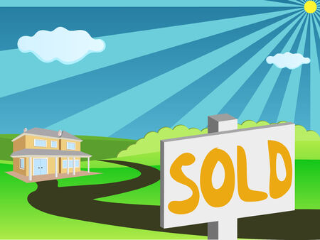 Real estate for sale Stock Vector - 6066563