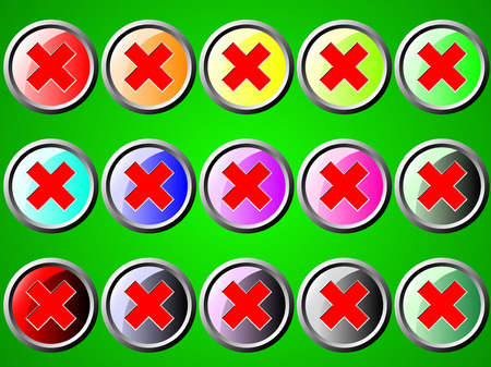 disapprove: Round icon with stop Illustration